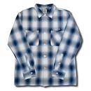 HARDEE BOWL L/S CHECK SHIRT BLUE