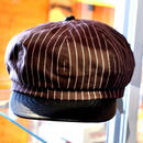 WABASH STRIPE CASQUETTE BROWN