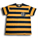 CUT RATE S/S BORDER T-SHIRT NAVY&YELLOW CR-16S058