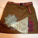 USED  SKIRT  SILKSCREEN PRINT(HADOU)  スカート