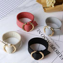Ring leather bangle/即日発送