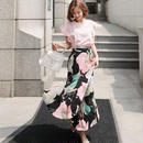 Big tops&flower long skirt set/Mのみ即日発送