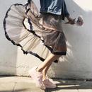 color   ribbon  chiffon  skirt