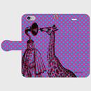 『スピーカー王とキリンの密談・紫水色ドット』型スマホケース 全機種対応