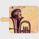 『覗くアマデウス』手帳型スマホケース 全機種対応