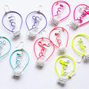 Arty Wire Pierced Earrings - yes no bulbs
