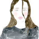 WOMAN IN BLACK SWEATER  /  FINE ART PRINT A4(NO FRAME)