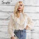 Ruffle Flower Lace Blouse