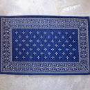 BANDANNA RUG / cross / navy