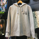 wolf ride full zip hoodie  GRAY