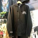 fuckin'  cop full zip hoodie BLACK