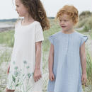 Serendipity Organics / Muslin Dress - Steel Blue