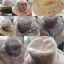 ヘンプコットンアフガン編み オーバルハット
