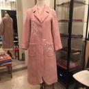 eka 手刺繍&木版染 軽くてあったかウールコート