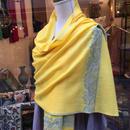 【カシミール】カシミアダイヤ織り手刺繍ストール