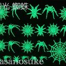 蜘蛛と蜘蛛の巣 蓄光シート A7 «佐々之助»