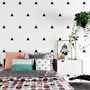 3D 壁紙 53×1000㎝ 北欧スタイル 三角ドット DIY 不織布 カビ対策 防湿 防水 吸音 インテリア 寝室 リビング h02035