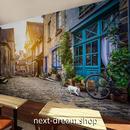 3D 壁紙 1ピース 1㎡ シティ風景 ヨーロッパ町並み 田舎 DIY リフォーム インテリア 部屋 寝室 防湿 防音 h03330