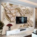 3D 壁紙 1ピース 1㎡ ヨーロッパモダン パール 立体 花 インテリア 部屋装飾 耐水 防湿 防音 h02960