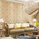 3D 壁紙 53×1000㎝ 花柄 ダマスク DIY 不織布 カビ対策 防湿 防水 吸音 インテリア 寝室 リビング h02070