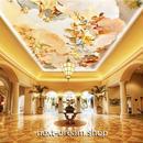 3D 壁紙 1ピース 1㎡ ヨーロッパレトロ ホテルロビー 天井用 インテリア 装飾 寝室 リビング 耐水 防湿 h02662