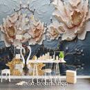 3D 壁紙 1ピース 1㎡ 立体アート 花 ヨーロッパ DIY リフォーム インテリア 部屋 寝室 防湿 防音 h03207