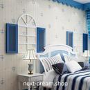 3D 壁紙 53×1000㎝ 子供部屋 錨 ストライプ DIY 不織布 カビ対策 防湿 防水 吸音 インテリア 寝室 リビング h02041