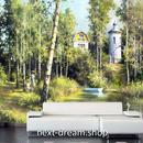 3D 壁紙 1ピース 1㎡ 自然風景 絵画デザイン 山中の小屋 インテリア 装飾 寝室 リビング 耐水 防カビ h02457