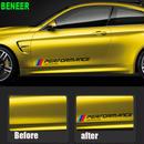 BMW ステッカー 2個入り Mパフォーマンス F30 F10 F20 E90 E60 E40 E36 E46 1 2 3 4 5 7 GT Z4 Xシリーズ サイド h00214