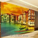 3D 壁紙 1ピース 1㎡ シティ風景 ヴェネチア 水の都 DIY リフォーム インテリア 部屋 寝室 防湿 防音 h03354