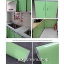 壁紙 60×300cm 無地 ライトグリーン 黄緑 DIY リフォーム インテリア 部屋/キッチン/家具にも 防水ビニール h03817