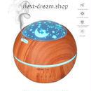 加湿器 空気清浄機 LED アロマ プロジェクター 150ml  乾燥・肌荒れ・風邪・花粉症予防  オフィス インテリア  m01334