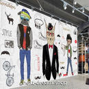 3D 壁紙 1ピース 1㎡ ヨーロッパモダン LONDON 犬 インテリア 部屋装飾 耐水 防湿 防音 h02825