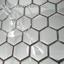 3D壁紙 29.8×30.5cm 11枚セット タイル 銀 ステンレス ハニカム DIY リフォーム インテリア 部屋/キッチン/トイレにも h04350