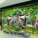 3D 壁紙 1ピース 1㎡ 絵画デザイン 森林 孔雀 滝 インテリア 装飾 寝室 リビング 耐水 防カビ h02428