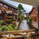 3D 壁紙 1ピース 1㎡ シティ風景 昔の街並み 川 DIY リフォーム インテリア 部屋 寝室 防湿 防音 h03320