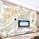 3D 壁紙 1ピース 1㎡ モダンエレガント 花 シルク布 DIY リフォーム インテリア 部屋 寝室 防湿 防音 h03133