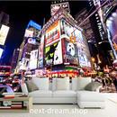 3D 壁紙 1ピース 1㎡ NY タイムズスクエア 夜景 防カビ 耐水 おしゃれ クロス インテリア 装飾 寝室 リビング h01807