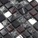 3D壁紙 30×30cm 11枚セット クリスタルガラス 混合石 黒 DIY リフォーム インテリア 部屋/浴室/トイレにも h04488