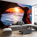 3D 壁紙 1ピース 1㎡ 海 朝日 夕日 海岸 サンセット 防カビ おしゃれ クロス インテリア 装飾 寝室 リビング h01803