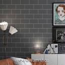壁紙 60×500cm 長方形タイル 灰色 グレー DIY リフォーム インテリア 部屋/トイレ/浴室にも 防水 PVC h03948