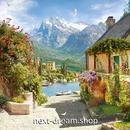3D 壁紙 1ピース 1㎡ 自然風景 山 ヨーロッパ DIY リフォーム インテリア 部屋 寝室 防湿 防音 h03384