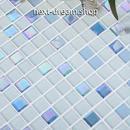 3D壁紙 30×30cm 11枚セット クリスタルガラス 青 白 DIY リフォーム インテリア 部屋/浴室/トイレにも h04459