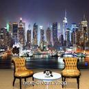 3D 壁紙 1ピース 1㎡ シティ風景 NY 夜景 DIY リフォーム インテリア 部屋 寝室 防湿 防音 h03315