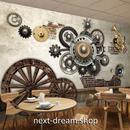 3D 壁紙 1ピース 1㎡ ウォールアート 木製車輪 歯車 DIY リフォーム インテリア 部屋 寝室 防湿 防音 h03332