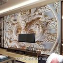 3D 壁紙 1ピース 1㎡ 彫刻デザイン 龍 ドラゴン DIY リフォーム インテリア 部屋 寝室 防湿 防音 h03081