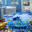3D 壁紙 1ピース 1㎡ 床用 自然風景 サンゴ礁 いるか DIY リフォーム インテリア 部屋 寝室 防湿 防音 h03564
