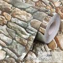 3D壁紙 60×300cm レンガ モダン 石垣 グレー DIY リフォーム インテリア 部屋/リビング/家具にも 防水 PVC h03977