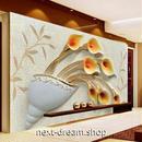 3D 壁紙 1ピース 1㎡ トリックアート 花瓶 モダン DIY リフォーム インテリア 部屋 寝室 防湿 防音 h03131