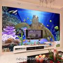 3D 壁紙 1ピース 1㎡ 自然風景 動物フォト ウミガメ 熱帯魚 インテリア 装飾 寝室 リビング 耐水 防湿 h02501